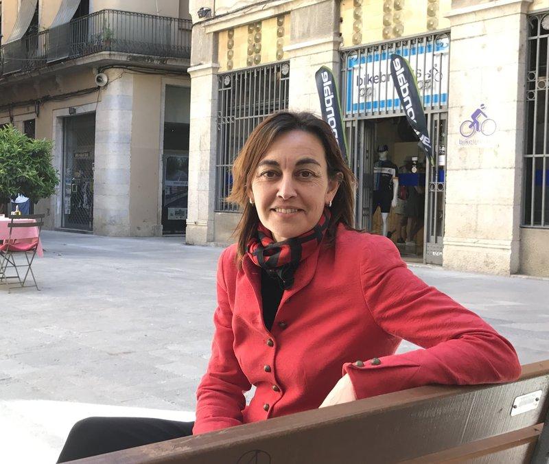 Sílvia Paneque al barri Vell de Girona. Foto: J.N.